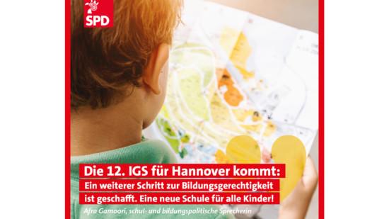Die 12. IGS für Hannover kommt!