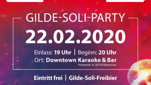 SEI DABEI: I LOVE GILDE - DIE SOLIDARITÄTSFEIER!