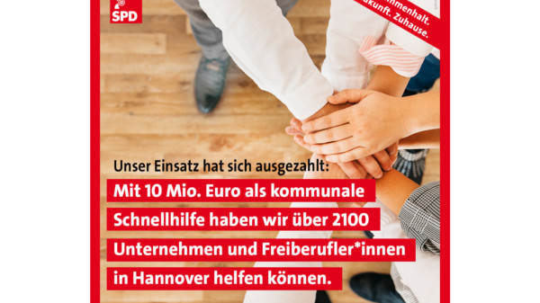 10 Millionen Euro kommunaler Soforthilfe